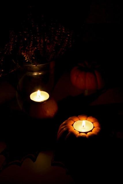jesienne świeczniki, jesienne dekoracje, jesień, jesienne DIY,