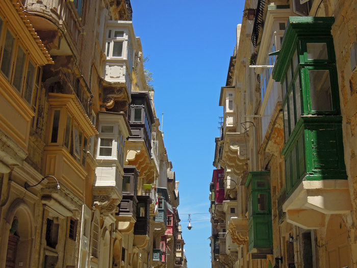 balkony na Malcie