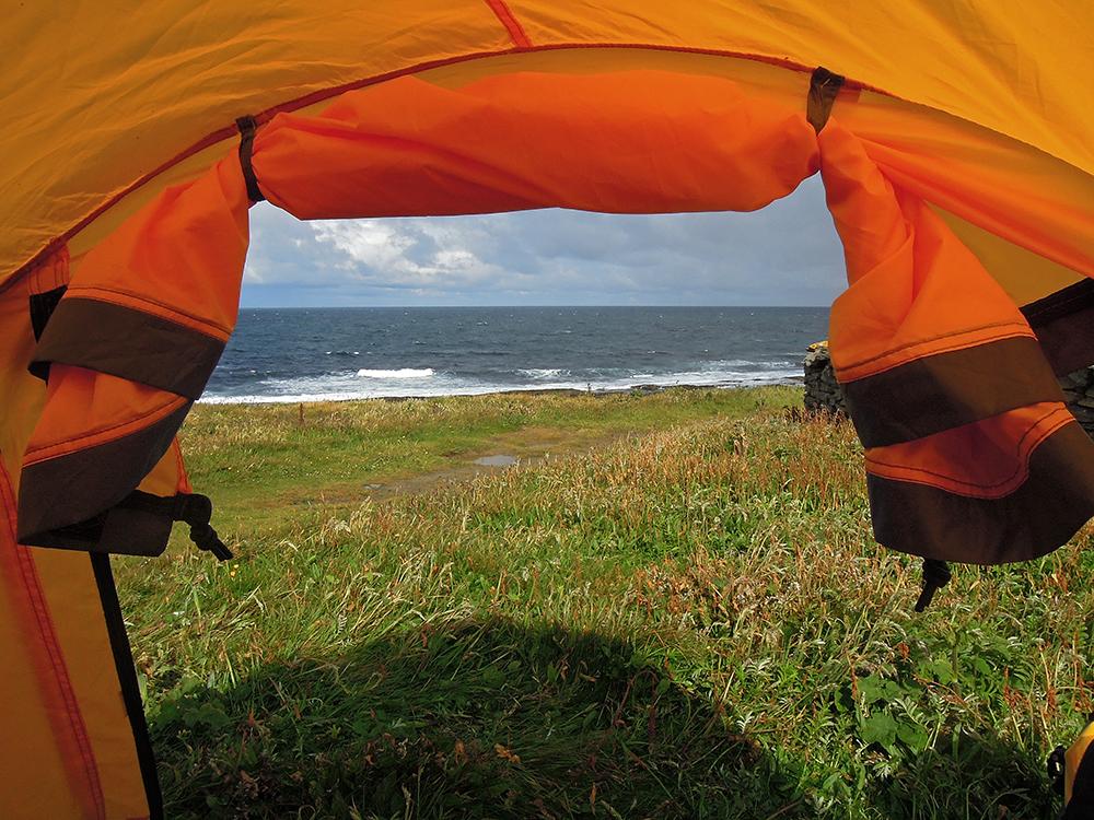 namiot na dziko szkocja