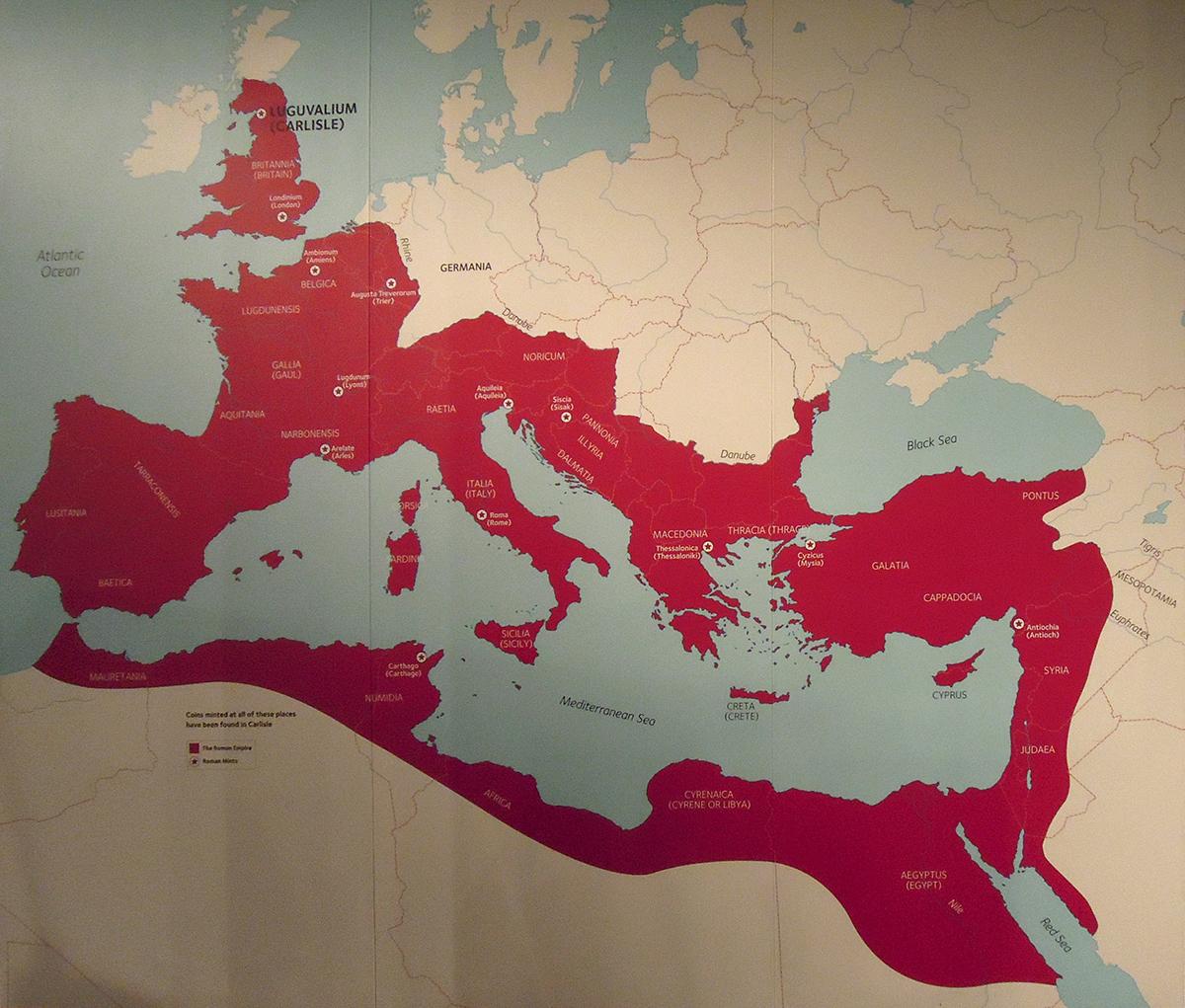 imperium rzymskie mapa