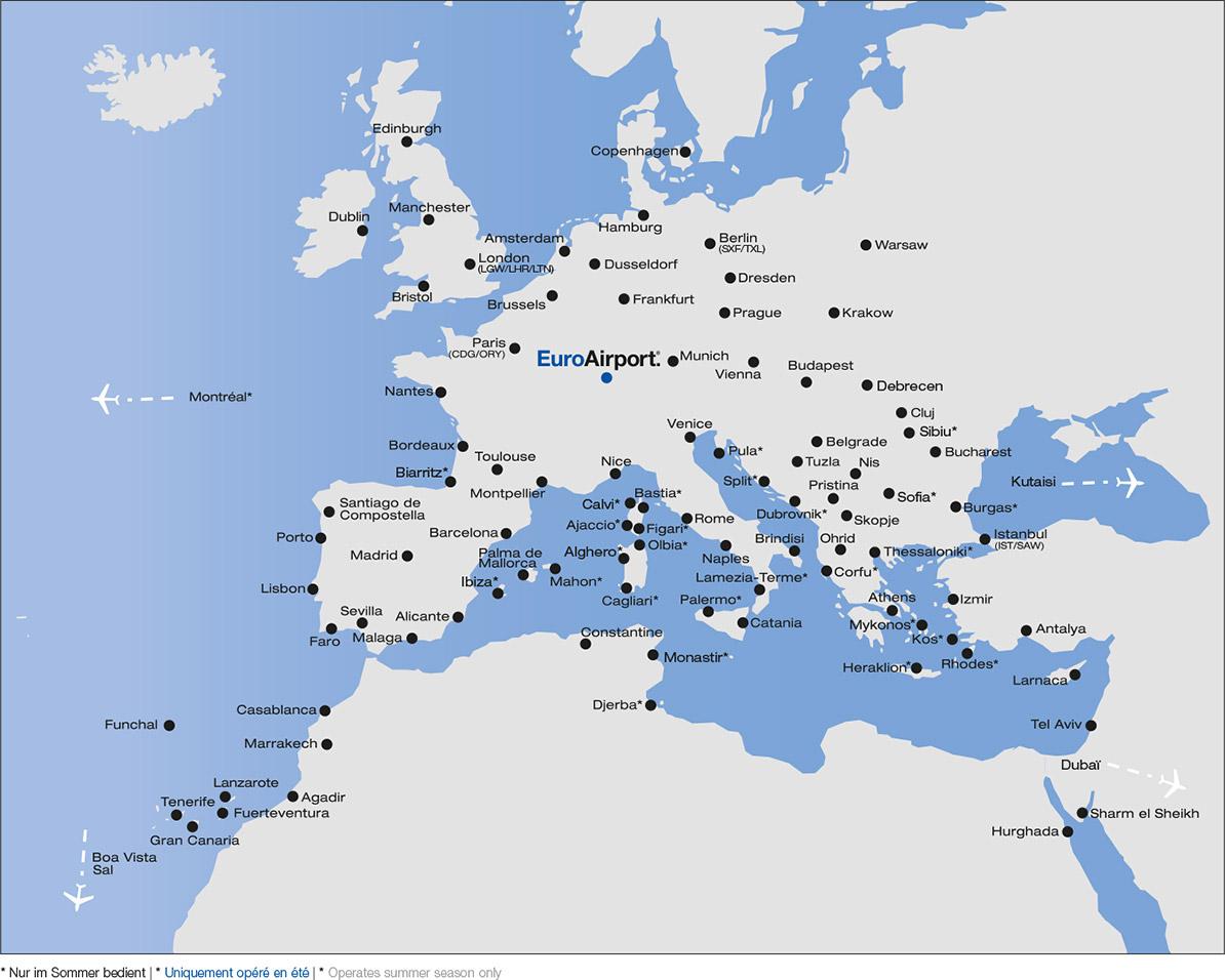 euroairport destynacje