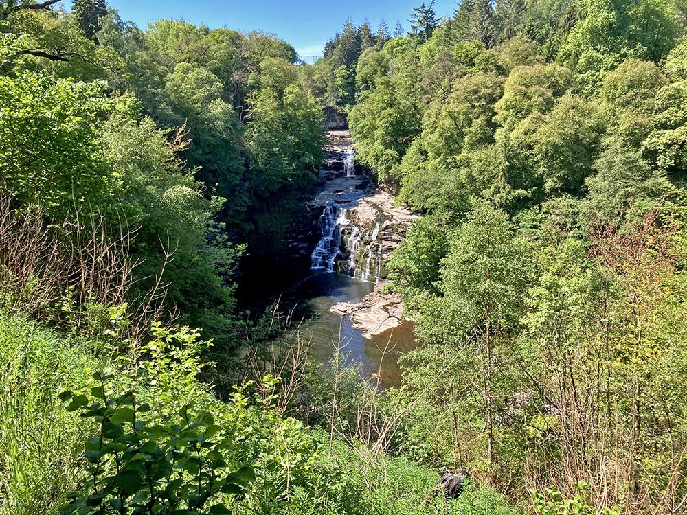 wodospady na rzece Clyde