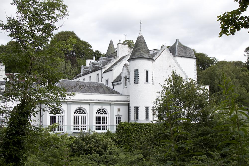 mapa szkocji barony castle
