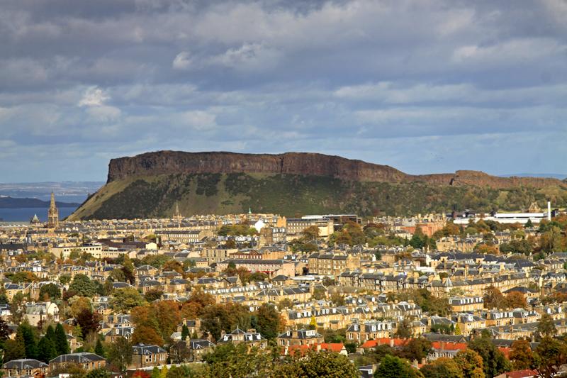 najlepsze widoki na Edynburg
