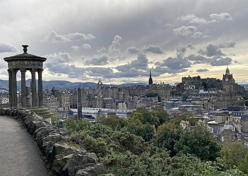 Edynburg najlepszy widok na miasto