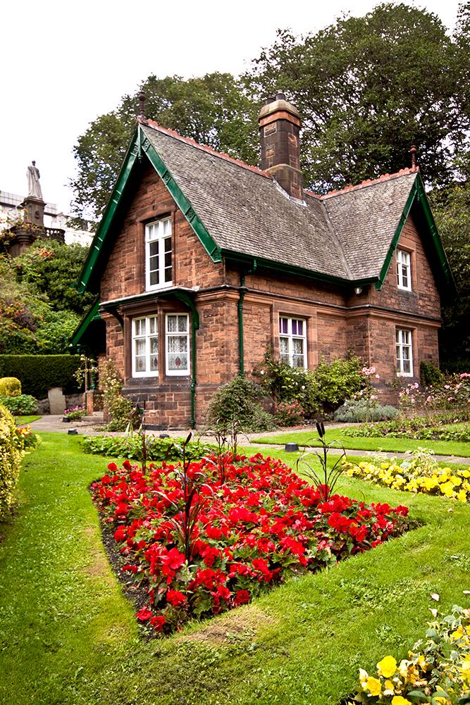Princes Street Gardens w Edynburgu