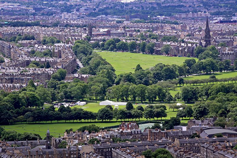 Edynburg widok na miasto