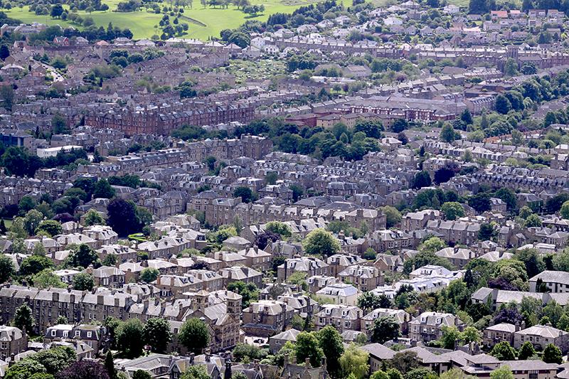 panorama miasta Edynburg