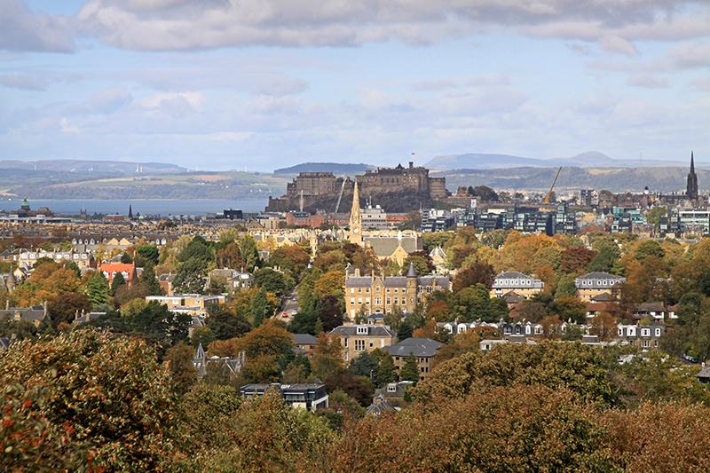 najlepszy widok na Edynburg