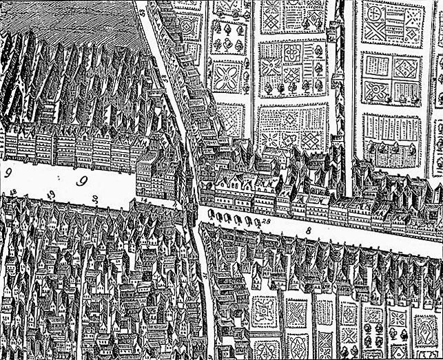 Edynburg stare miasto rycina