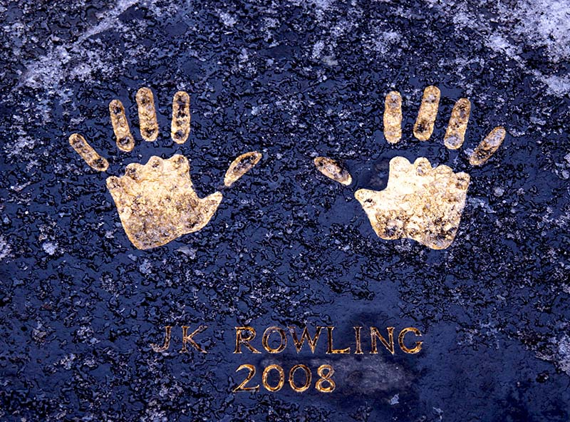 Edynburg odcisk dłoni J. K. Rowling