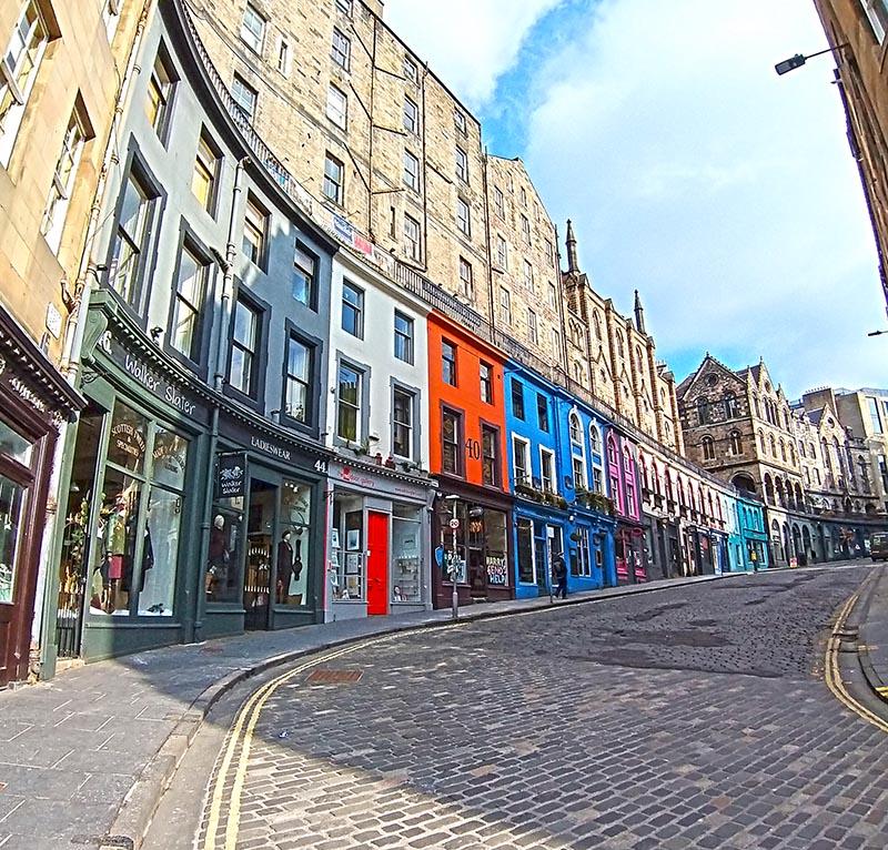 Ulica Pokatna Edynburg Harry Potter