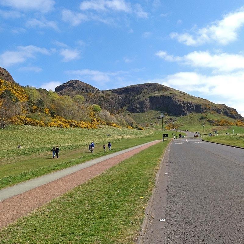 rowerem po Edynburgu