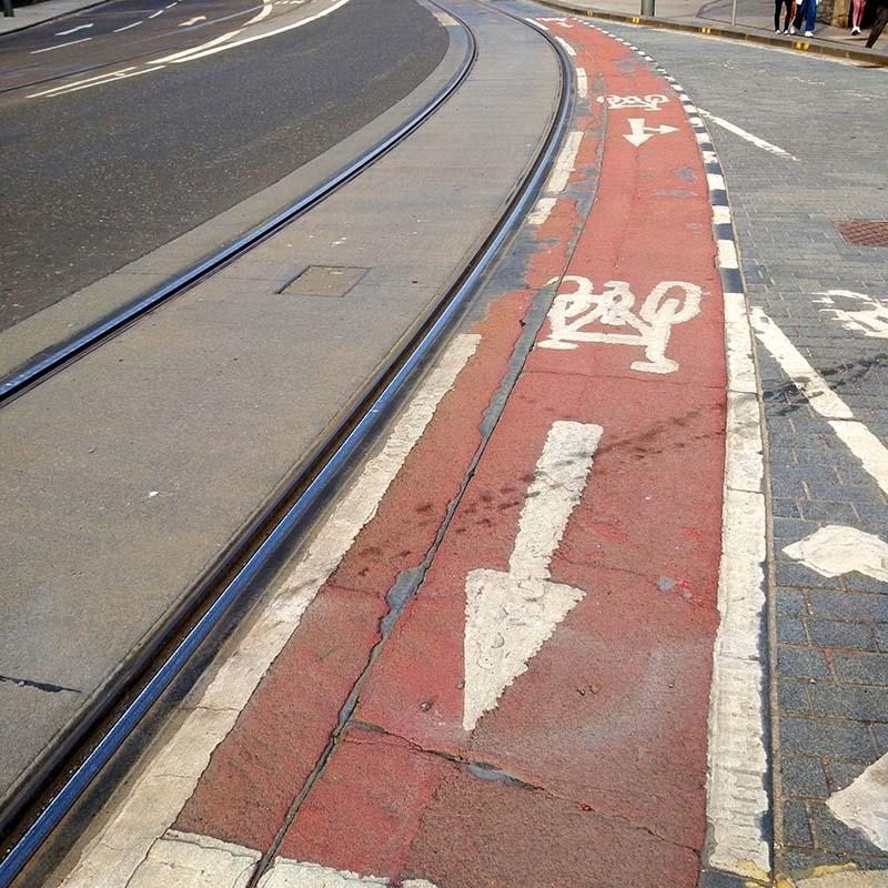 pas rowerowy Edynburg