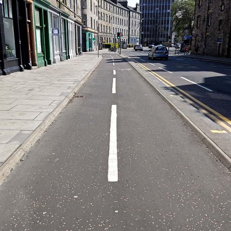 jazda rowerem po Edynburgu