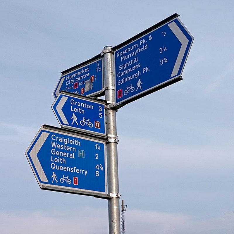 Znaki rowerowe Edynburg