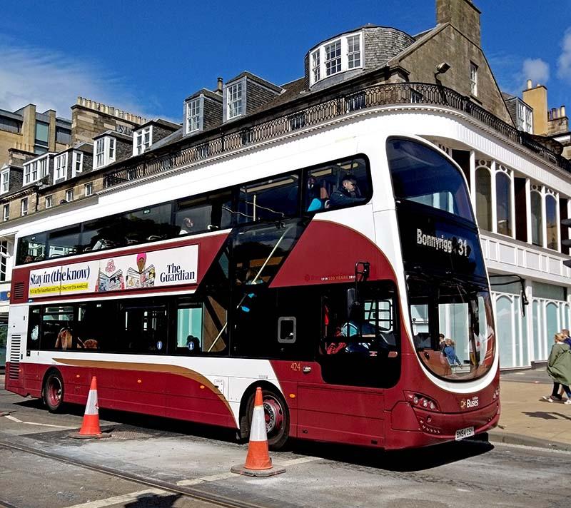autobusy Edynburg