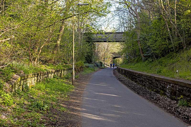 ścieżka rowerowa Edynburg