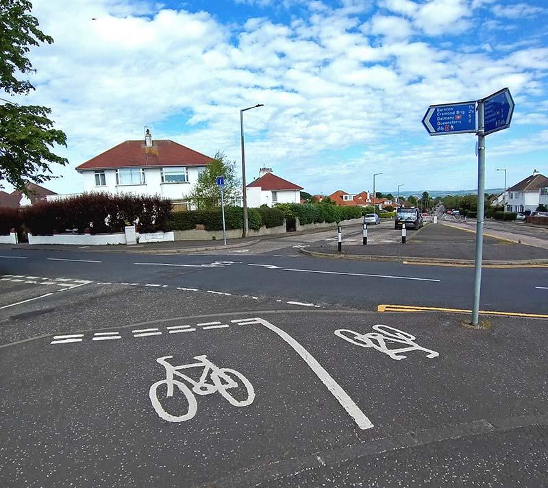 sciezka rowerowa Edynburg