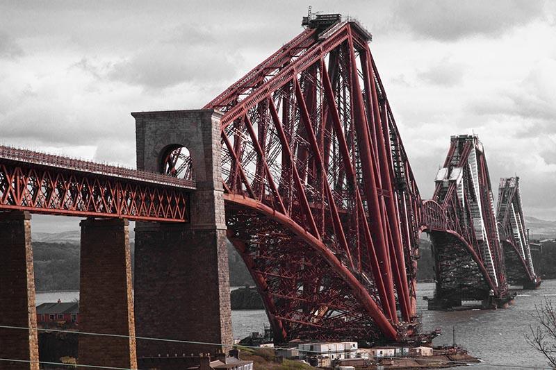 ciekawostki o Edynburgu Forth Bridge Uncesco