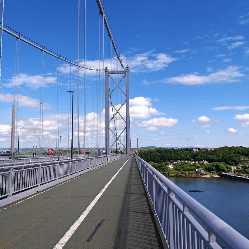 sciezka rowerowa Forth Road Bridge